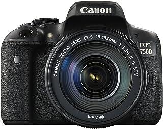 Canon EOS 750D Super Kit with EF-S 18-135mm f 3.5-5.6 IS STM Digital Camera - SLR(750DSK) 3Inch Display,Black