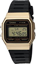 Casio Men's Data Bank Quartz Watch with Resin Strap, Black, 18 (Model: F91WM-9A)