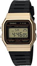 Casio Men's Data Bank Quartz Watch with Resin Strap, Black, 18 (Model: F91WM-9A)