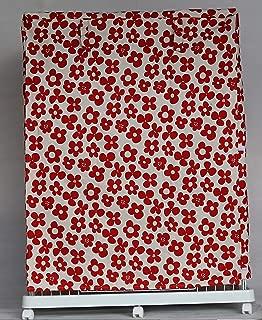 Cocoheart ケージカバー日本製(縫製・帆布/綿100%)(横幅85cmX奥行き60cmX高さ180cm) (3段ケージ用 Aタイプ, フラワーレッド)