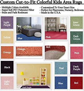 Koeckritz Rugs Custom Sized Colorful Area Rugs Area Rugs with Premium Bound Edges. You Measure The Space, and We'll Custom Cut Your Rug to Fit.