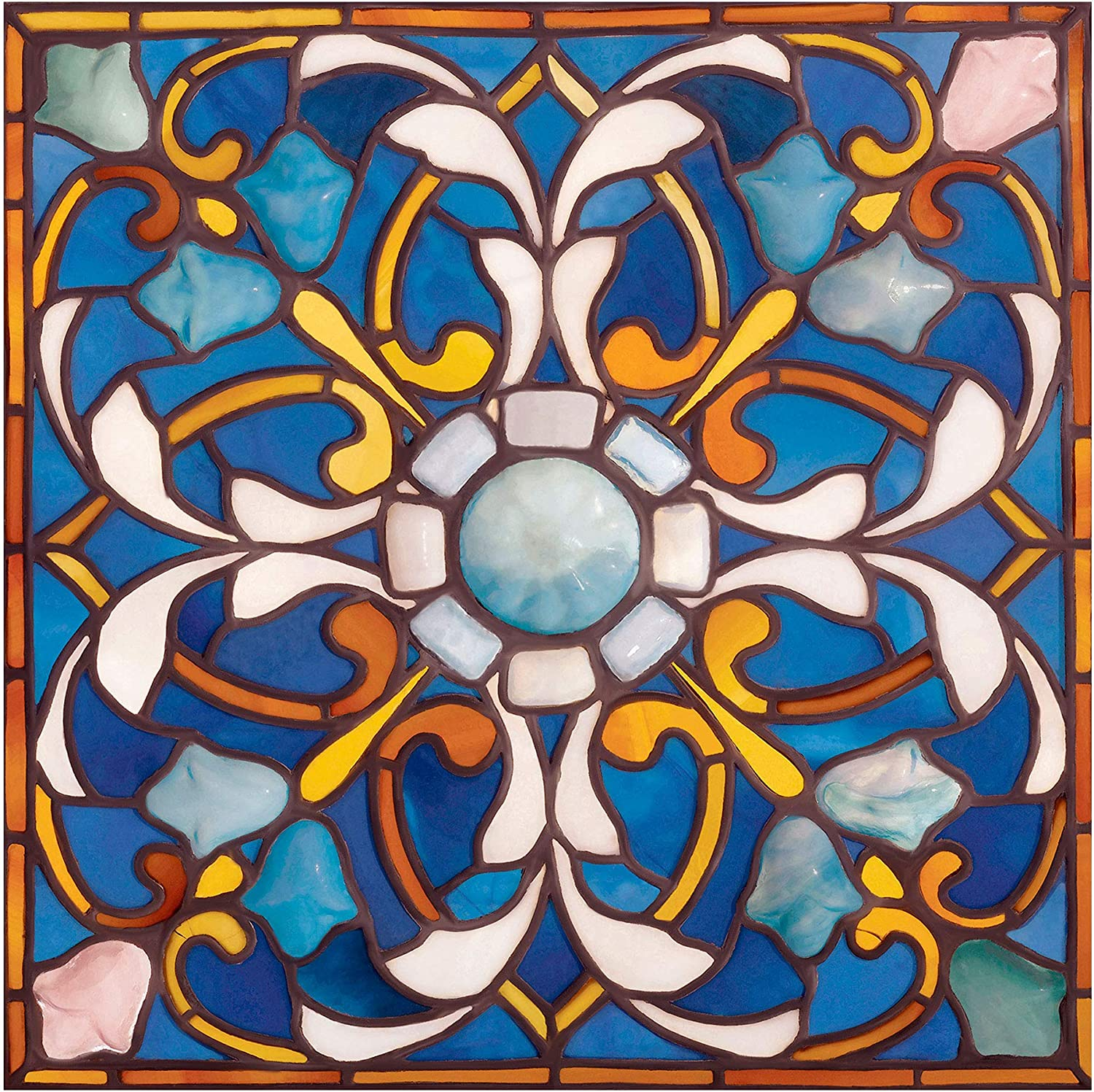Rare Ceiling Panel by Georges Max 60% OFF mart Croegaert Glass Mosaic Dra Stained