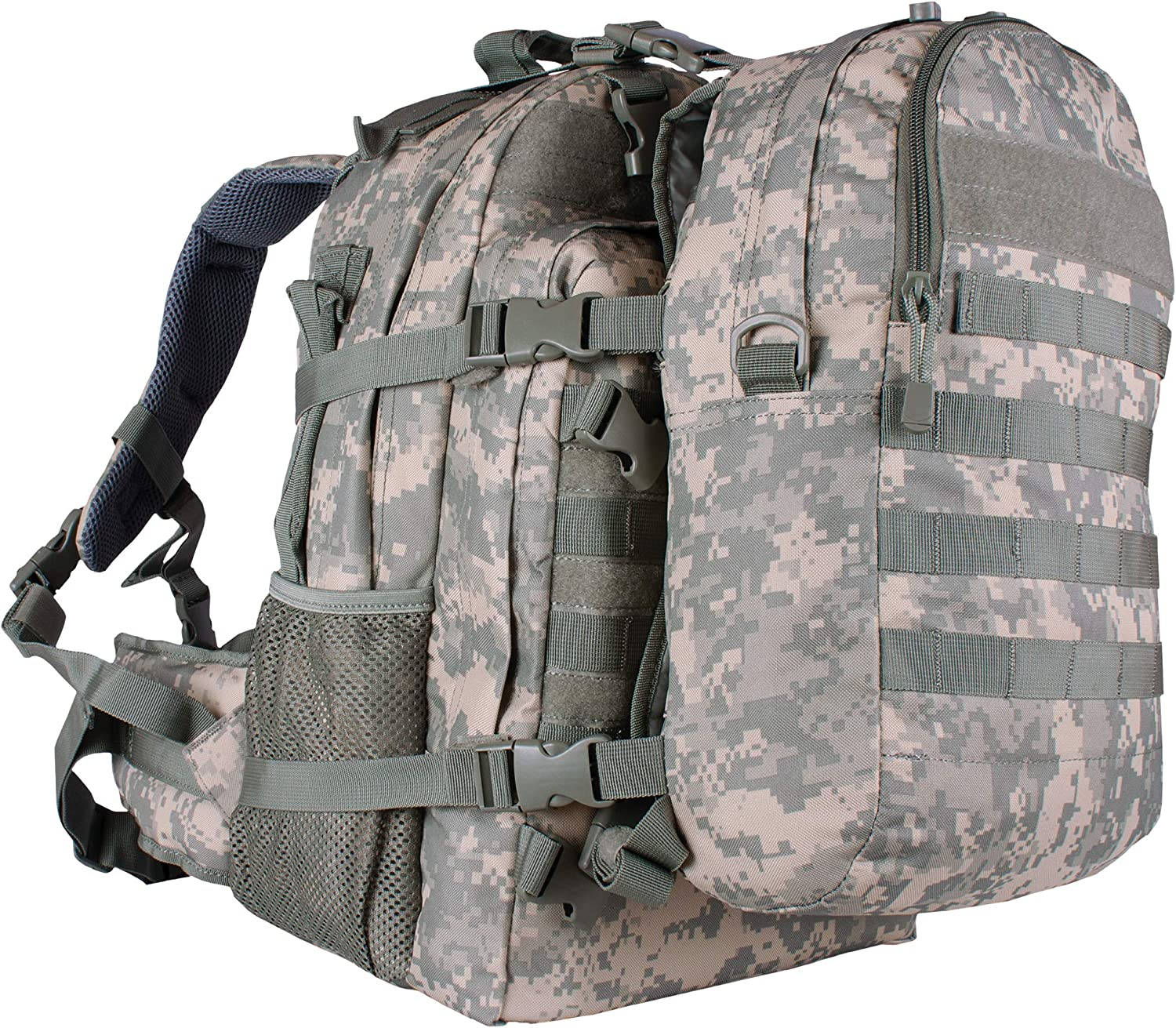 Fox Outdoor Products Dual Tactical Pack System, Terrain Rubberized Digital