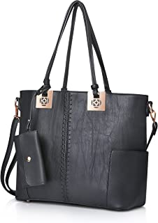 Purses and Handbags for Women Fashion Ladies PU Leather Top Handle Satchel Shoulder Tote Bags Wallet