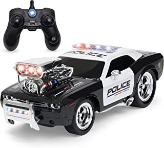 Best Choice Products 1/14 Scale 2.4GHz Rechargeable RC Police Car w/ Lights and Sounds, Black