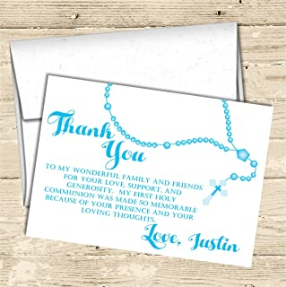 Personalized First Holy Communion Thank You Cards, Holy Communion Supplies, Holy Communion Decor