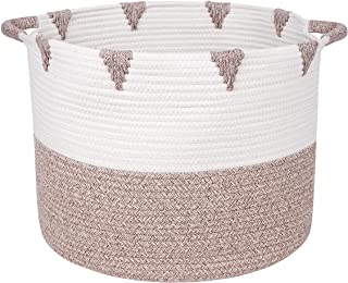 We Care Vida Storage Baskets - Woven Basket Made from Natural Cotton Rope - Baby Laundry Basket with Handle - Decorative H...