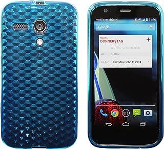8e08a44e606 Luxburg® Diamond Design funda protectora para Motorola Moto G 2013 en color  azul aguamarina/
