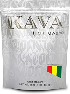 Wakacon KAVA LAWENA Powder - Fijian Noble Premium High Quality Kava Root Powder (16oz)