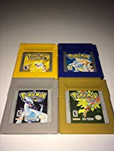 Game Boy Pokemon Version Game Set (6) Yellow, Red, Blue, Crystal, Silver and Gold) - NEW BATTERIES PROFESSIONALLY INSTALLED