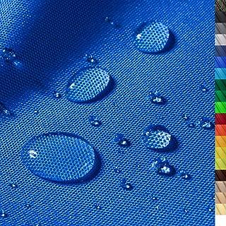 1buy3 Monaco Wasserdichter Polyester Stoff | 12.000 mm Wassersäule | Farbe 15 | Blau | Polyester Stoff 160cm breit Meterware wasserdicht Outdoor extrem reissfest