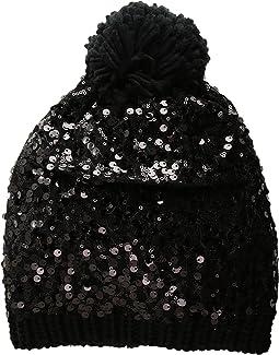 Betsey Johnson - Sequin Shine Pom Beanie