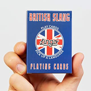 British Slang Playing Cards - Lingo Playing Cards | Language Learning Game Set | Fun Visual Flashcard Deck to Increase Voc...