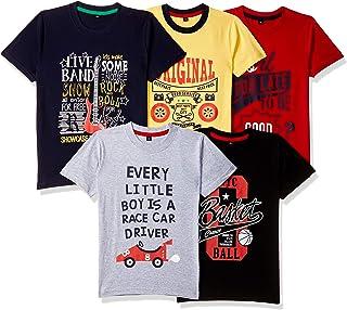 T2F Boy's T-Shirt (Pack of 5)
