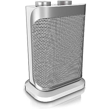 Brandson - Heizlüfter mit Zwei Leistungsstufen - Heizlüfter Badezimmer energiesparend leise - stufenlose Temperaturregelung - Keramik Heizelement - Thermosicherung - Heizung Heater