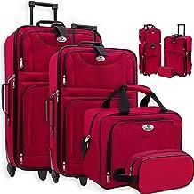 KESSER® 4tlg Trolley Kofferset   Reisekoffer Set mit Rollen   Komplettes Business 4er..