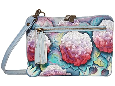 Anuschka Handbags Convertible Belt Bag/Crossbody Zip Around 663 (Hypnotic Hydrangeas) Bags