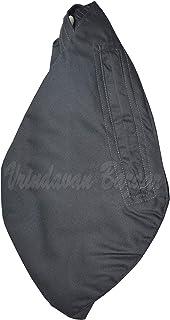 VRINDAVANBAZAAR.COM Plain japa Bag with Front Zipper- Grey