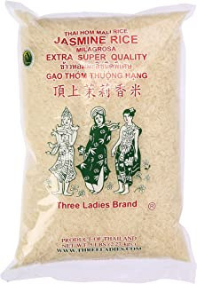 Three Ladies Jasmine Rice Long Grain 5 lbs