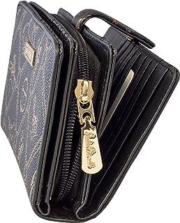 Geldbeutel Damen mit Reißverschluss und Druckknopf Giulia Pieralli Frauen Geldbörse groß viele Fächer Geldtasche Frauen Po...