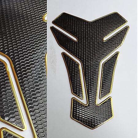 Tankpad Tankschutz Motorrad Carbon Optik Schwarz Gold Universal Auto
