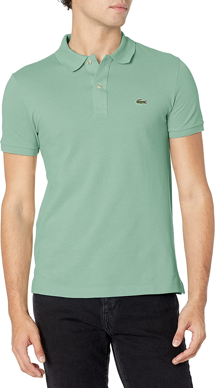 Lacoste セール 登場から人気沸騰 Men's 絶品 Classic Pique Slim Fit Polo Shirt Short Sleeve