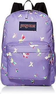 Superbreak Backpack - Classic School Bag, Purple Dawn Butterfly Kisses