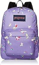 JANSPORT Superbreak Backpack - Classic School Bag, Purple Dawn Butterfly Kisses