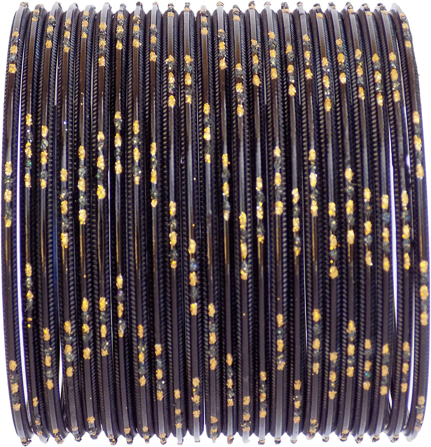 JDZ COLLECTION Indian Costume Bollywood Jewelry Plain Metal Bangles Set Jewelry Multi Colors Bangles Set for Women