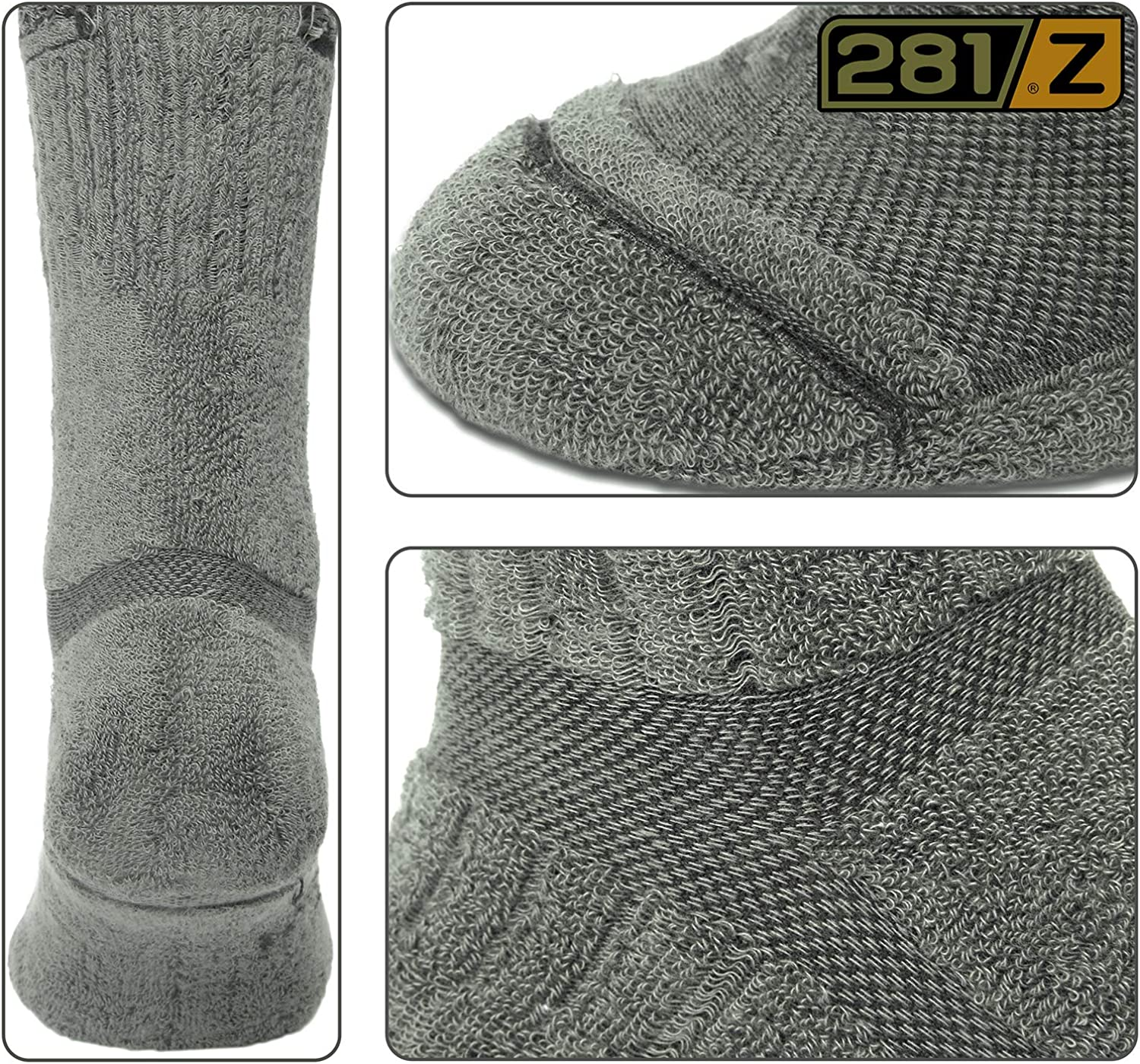 Sage Green Outdoor Athletic Sport 281Z Military Boot Socks Tactical Trekking Hiking