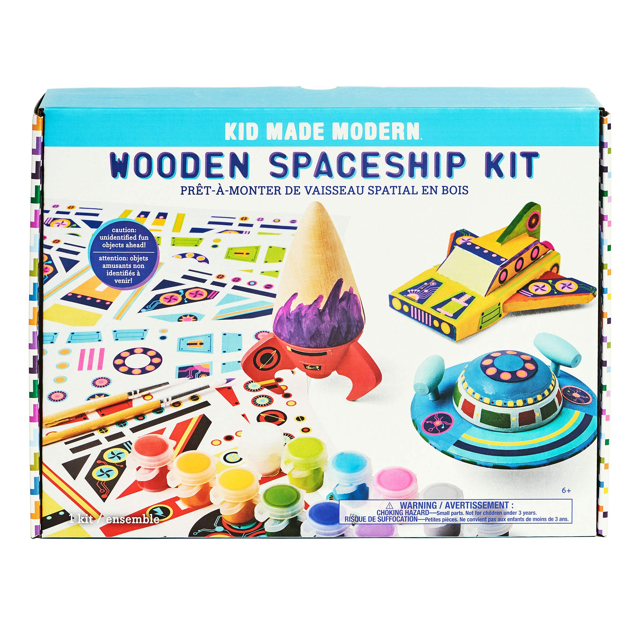 Kids Arts and Crafts Toys Kid Made Modern Wooden Spaceship Kit