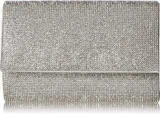 Honeycomb Designed Sparkle Glitter Evening Clutch Bag Bridal Wedding Handbag