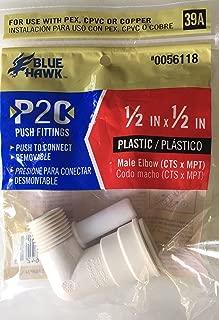 Blue Hawk P2C Push Fitting 1/2