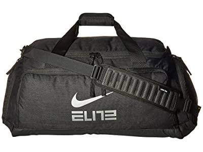 Nike Hoops Elite Duffel (Black/Black/Metallic Cool Grey) Duffel Bags