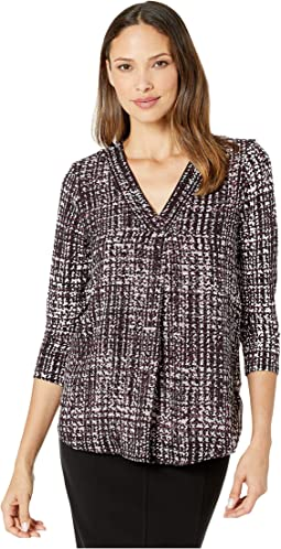 Abstract Cloud Chiffon Poncho Cover Up Top Calvin Klein 6pm