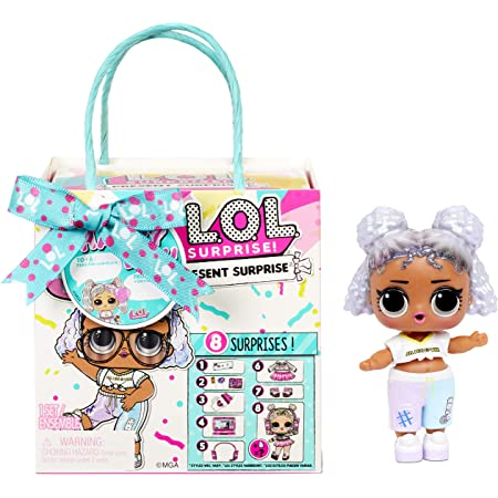 L.O.L. Surprise!-LOL Tema Compleanno con 8 sorprese-Effetti di Cambio Colore e Accessori-Present Surprise Serie 3-Bambole da Collezione per Bambini dai 3 Anni in su, 576396C3BULK