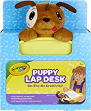 Crayola Travel Lap Desk with Storage, Dog Plush & Markers, Gift for Kids, Age 4, 5, 6, 7