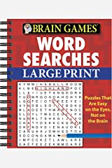 Brain Games - Word Searches - Large Print (Red) Spiral-bound