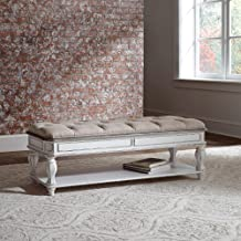 Liberty Furniture Industries Bed Bench, W54 x D18 x H20, White