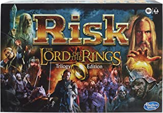 Risk: The Lord of the Rings Trilogy Edition, Strategy Board Game for Ages 10 and Up, for 2-4 Players,F2267