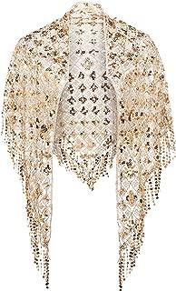 Damen Umschlagtücher Stola für Abendkleid 1920s Retro Schal Hochzeit Party Braut Schal Gatsby Kostüm Accessoires
