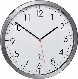 TFA-Dostmann–Aluminium de Radio Horloge Murale avec Un Cadran de Balayage Silencieux Chat 60.3527.55