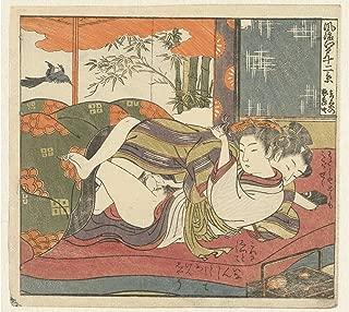 History Prints Erotica - Japanese Shunga - Loving Couple in Bed, Isoda Koryusai, 1770-1775 - 16 x 24 inches