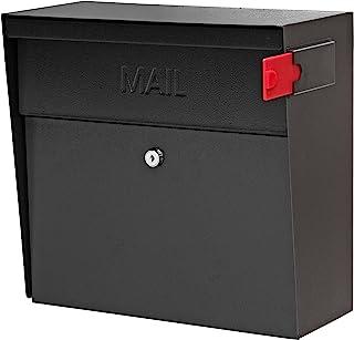 Mail Boss 7162 Metro Locking Wall Mount Mailbox, Black