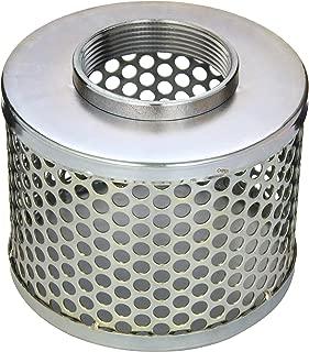 PT Coupling Carbon Steel Round Hole Pump Suction Strainer, 3