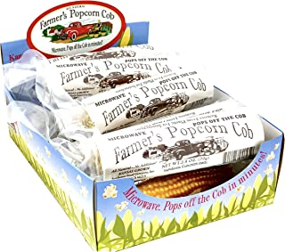 Farmers Popcorn Cob – Microwave Popcorn That Pops Off the Cob - Pack of 12 - All Natural, No Additives, Kansas Grown, Non-GMO Popcorn - 2.5 Ounce