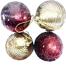 MG Decor Madhus Collection Assorted Sequins Baubles in a Gift Box, 5-inch
