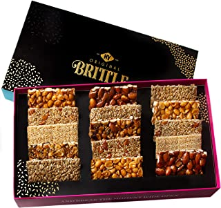 NY Original Brittle Fathers Day Gift Baskets | 8 Variety Gourmet Nuts & Candy Basket | Food Mixed Nut Bars | Prime Healthy...
