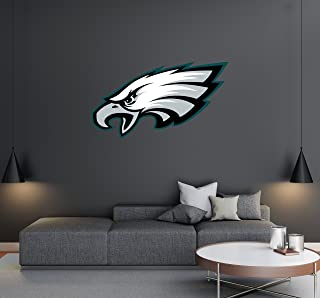Philadelphia Eagles - Football Team Logo - Wall Decal Removable & Reusable For Home Bedroom (Wide 20
