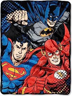 DC Comics Justice Micro Raschel Throw Blanket, 46
